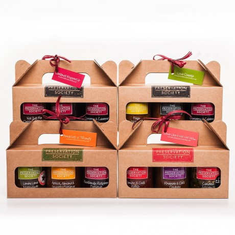 Christmas Wrapped Relishes & Chutneys Trio Gift Box
