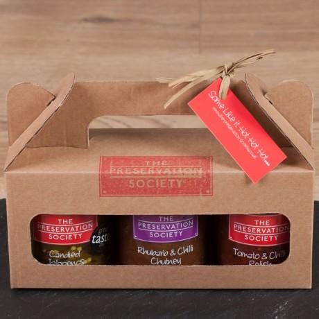Some Like It Hot Chutney & Relish Trio Gift Box