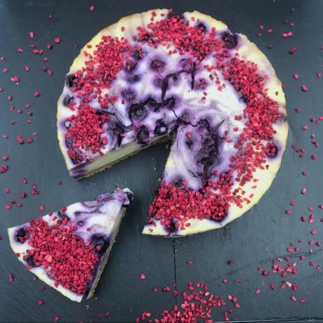 Dairy & Gluten Free Blueberry Cheesecake