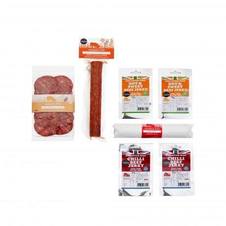 'Some Like it Hot' Rare Breed Chorizo, Salami & Jerky Pack