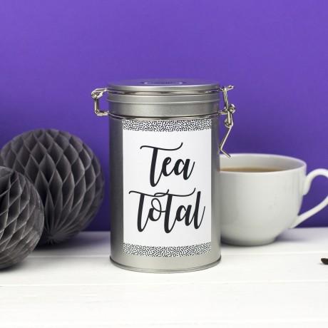 tea tin caddy