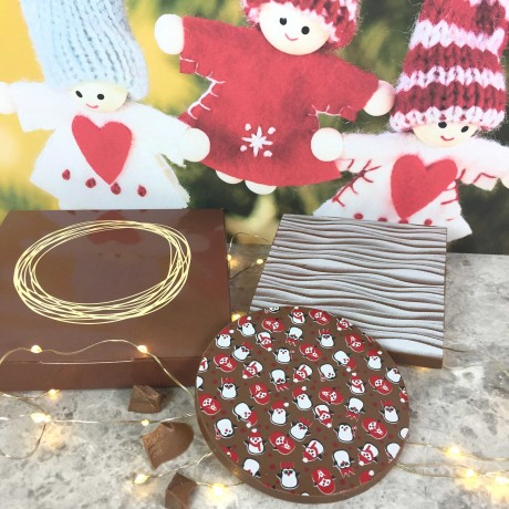 Personalised Christmas Chocolate Gift with Penguin Design