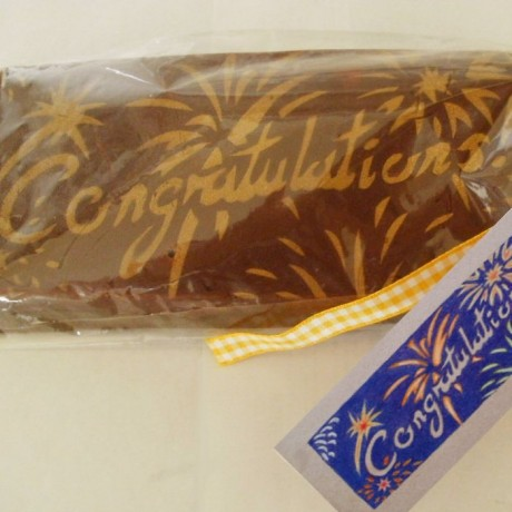 Congratulations Fudge Gift Bar