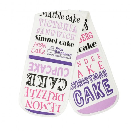 Pink Cake Double Oven Gloves