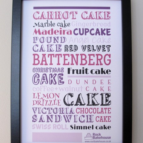 Cake Typography Print