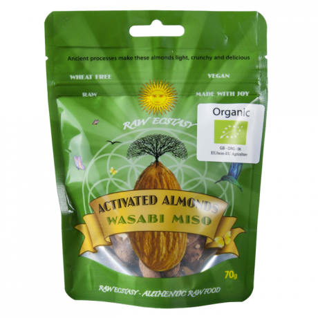 Activated Wasabi Miso Almonds- 3 pack
