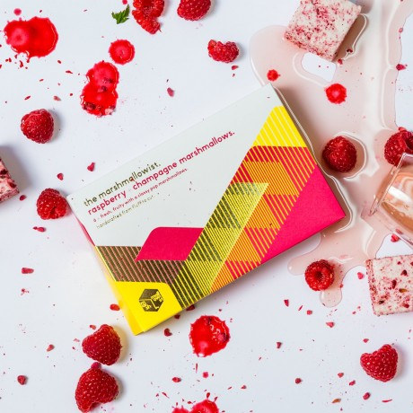 Raspberry & Champagne Gourmet Marshmallows