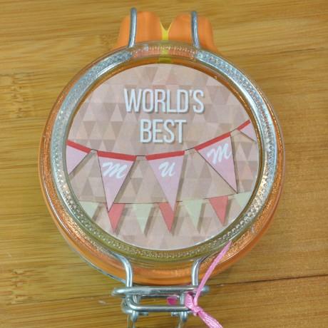 Personalised World's Best Mum Mug with Chocolate Cake Treat