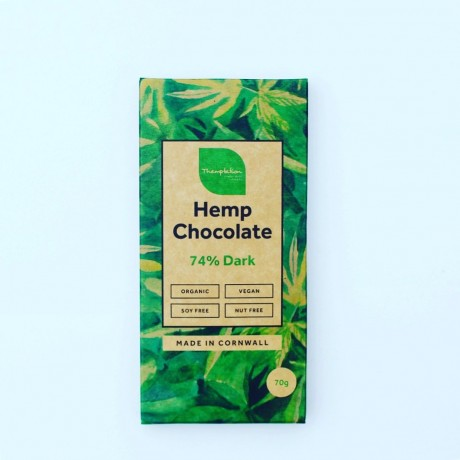Organic Hemp 74% Dark Chocolate Bars (6 pack)