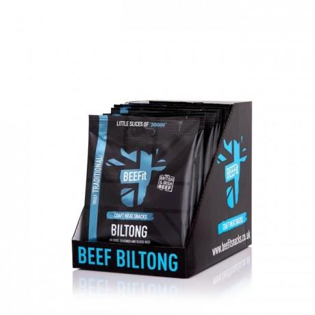 BEEFit Snacks Truly Traditional Biltong (10x30g)