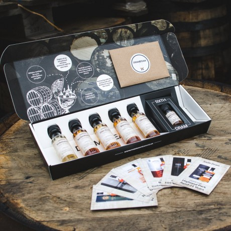 Box with tasting cards