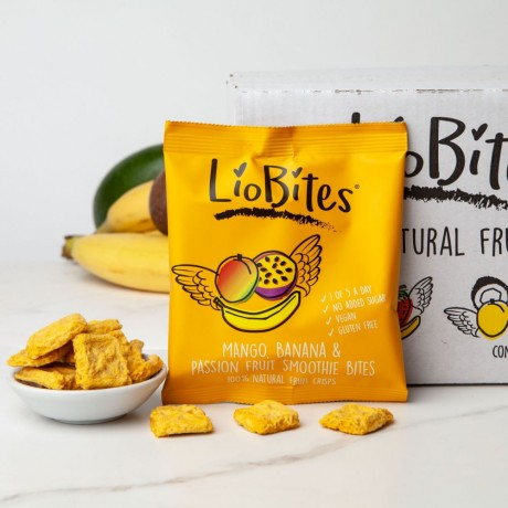 Mango, Banana & Passion Fruit Smoothie Bites Fruit Crisps (15 Packs)