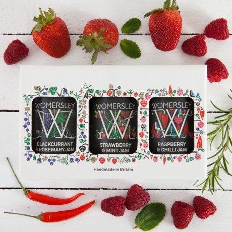 Gift Box of all three Womersley Luxury Jams, 2