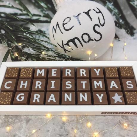 Personalised Christmas Chocolates for Mummy, Mama or Mum