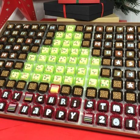 Cocoapod chocolate Chistmas tree Advent Calendar