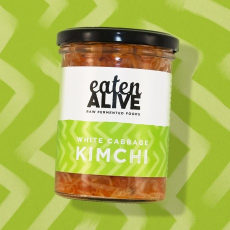 Vegan Raw White Cabbage Kimchi Sauerkraut