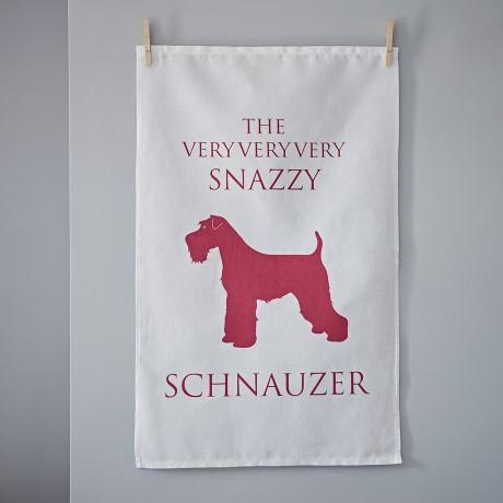 The Very Snazzy Schnauzer Tea Towel