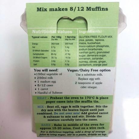 Gluten Free Carrot Cake Muffin Mix