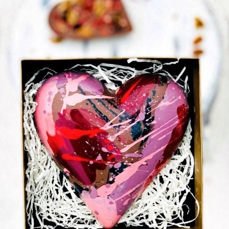 L.O.V.E heart presented in box