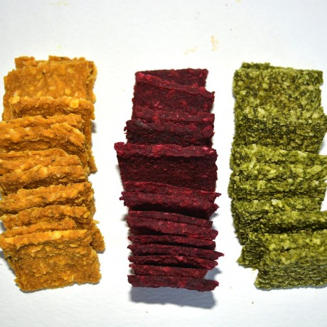 Mixed Box of Vegetable Squares Snacks (Beetroot/Spinach/Butternut Squash)