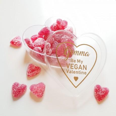 Personalised 'Be My Vegan Valentine' Vegan Sweets Gift