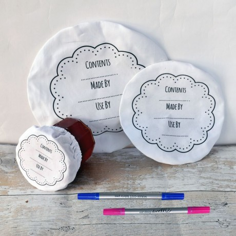 washable food covers with pens