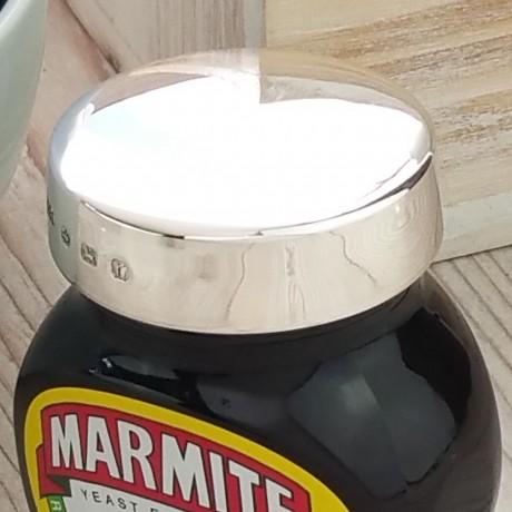 Personalised Silver Marmite Jar Lid