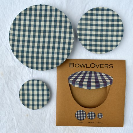 Blue gingham food covers