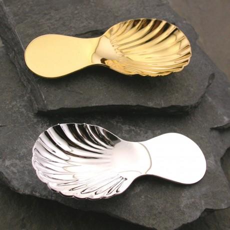 David-Louis Tea Caddy Spoon in Silver Plate or Go