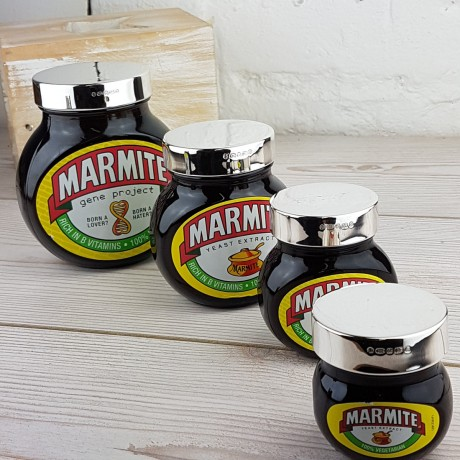 Silver marmite lid group shot