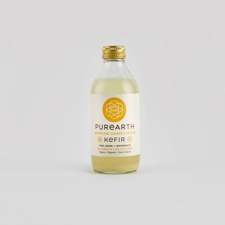 Sparkling Ginger + Lemon Kefir
