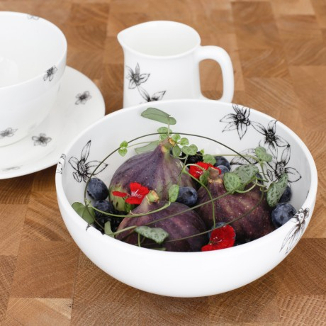 Fine Bone China Cereal Bowl - Floral Decadence