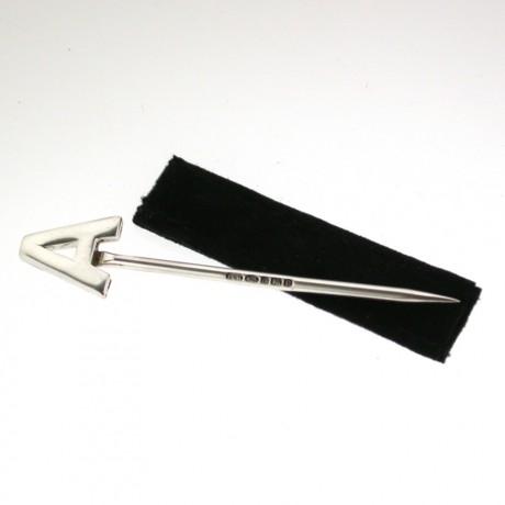 Silver Alphabet Toothpick A