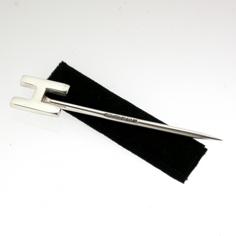 Silver Alphabet Toothpick H