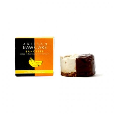 Banoffee Raw Cake | Chocolate-dipped