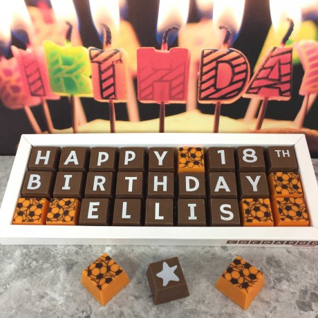 Cocoapod chocolate personalised 18th birthday gift