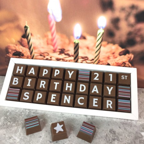Cocoapod chocolate personalised 21st birthday gift