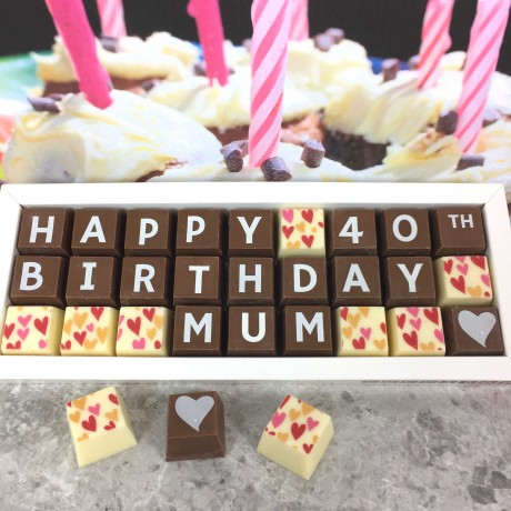 cocoapod chocolate 40th birthday gift