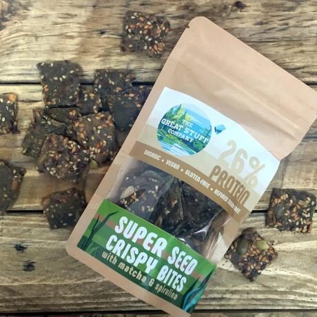 Super Seed Crispy Bites with Turmeric / Matcha & Spirulina (8 bags)