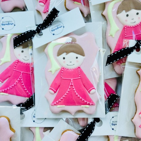 Princess Pink Iced Biscuits Party Favours