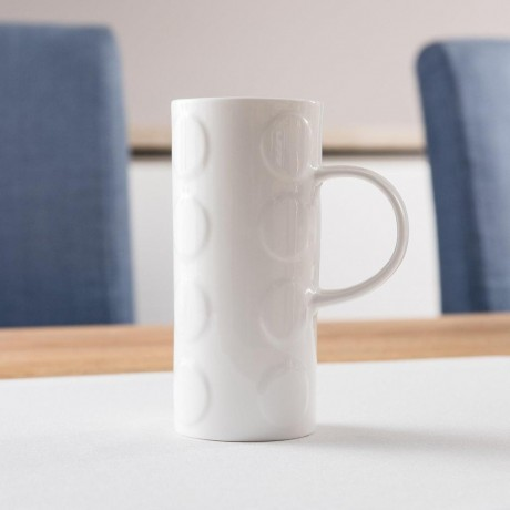 Fine Bone China Mug With Dots Design