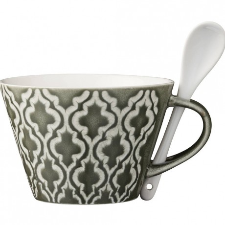 Abella Ceramic Cup And Spoon Set