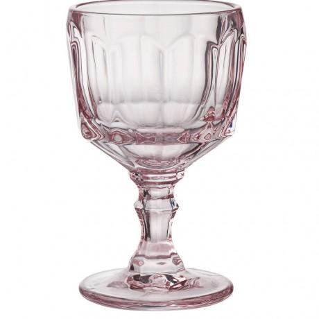 Pair of Rose Pink Wine Glasses
