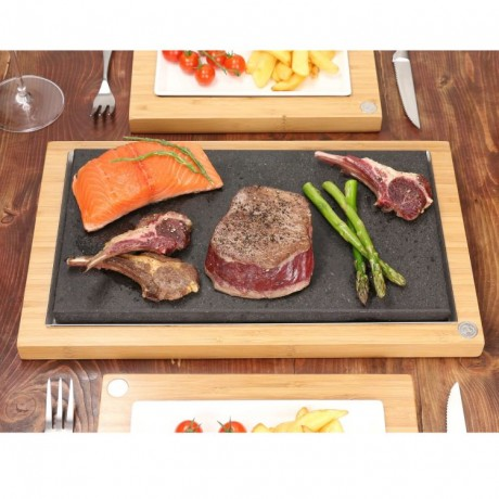 The Sharing Steak Plate & Server Hot Stone Cooking Set