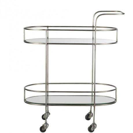 Pale Gold Glass Bar Cart