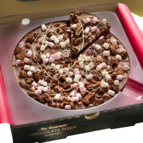 Rocky Road Chocolate Pizza