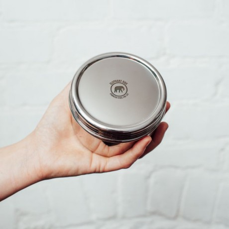 Large Screw Top Stainless Steel Canister
