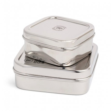Square Stainless Steel Containers Set