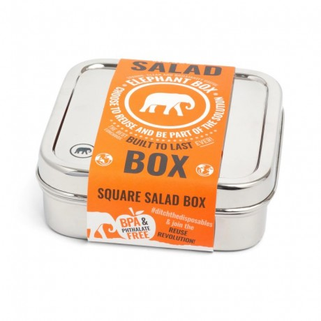 Square Stainless Steel Salad Box