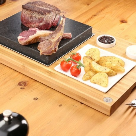 The Steak Plate & Sauces Hot Stone Cooking Set